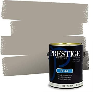 Amazon Com Prestige Paints Exterior Paint And Primer In One 1 Gallon Flat Comparable Match Of Benjamin Moore River Reflections Everything Else