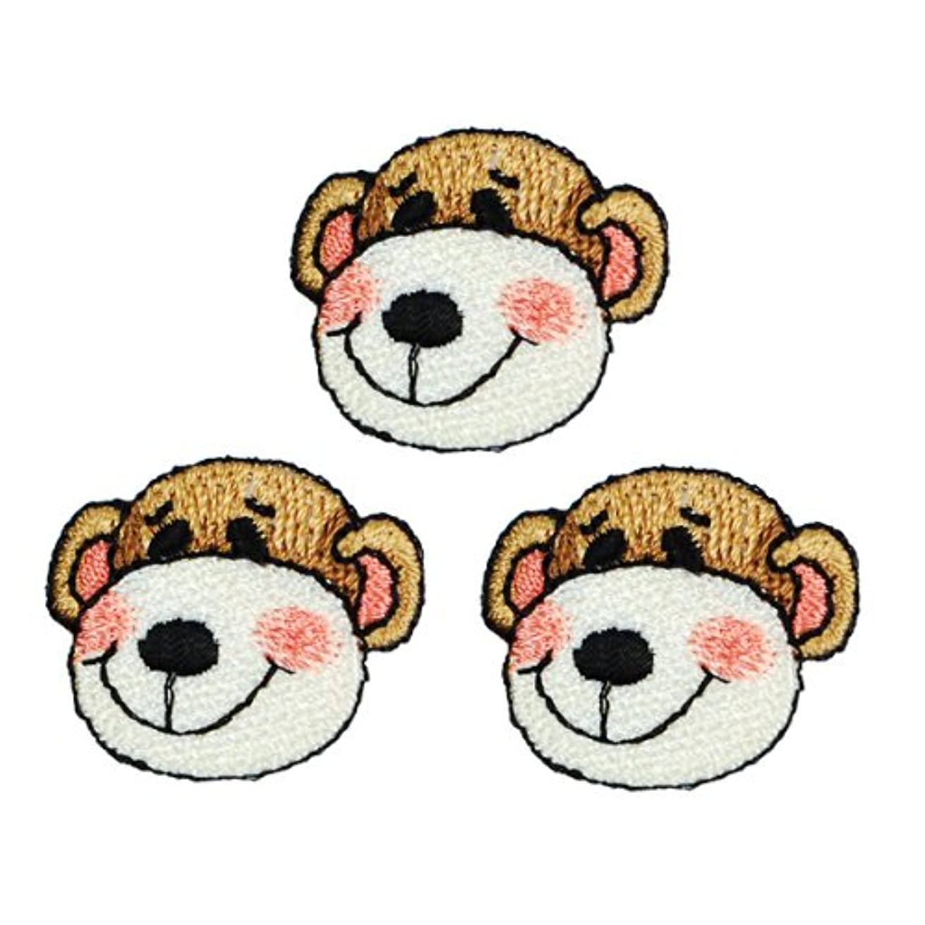 Expo Iron-on Embroidered Applique Patches, BaZooples Max Monkey Head, 3-Pack