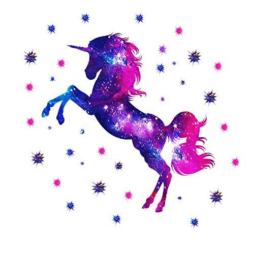 Unicornio Pegatinas de Pared,Adhesivos Unicornio Extraíble de Wall Stickers,Unicorn Wall Stickers,Vinilo Decorativo Infantil Unicornio,Adhesivo de Pared Para Habitación Infantil.