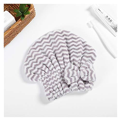 YSJJOSX Schnelltrocknender Haarhut Mikrofaser-Hair-Handtuch Turban-Frauen schnell trockenes Haar-Hut Absorbierende Duschkappe Weiche Kopf Wrap Hut 9 Farben Handtuch für...