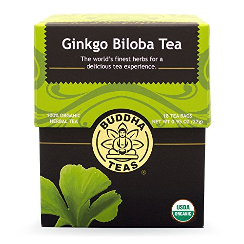 Buddha Teas Ginkgo Biloba Tea, 18 Count (Pack of 6)