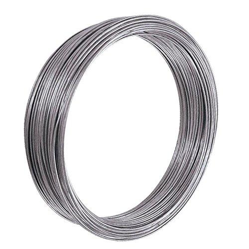 WURKO 000093–Rotolo di filo zincato, 0.7mm, 1/4kg)