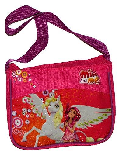 alles-meine.de GmbH Umhängetasche / Schultertasche Mia and Me für Kinder - Kind Pferde Einhorn Schmetterling Magic Pferde Mädchen Pferd Kindergartentasche Tragetasche