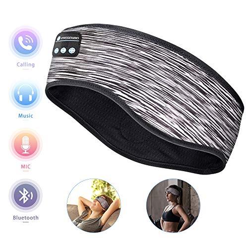 Sleep Headphones Bluetooth Headband, Wireless Music Sports Headband Headphones with Ultra-Thin HD Stereo Speakers, Workout Sport Headphones for Running Yoga Meditation, Comfortable for Side Sleepers
