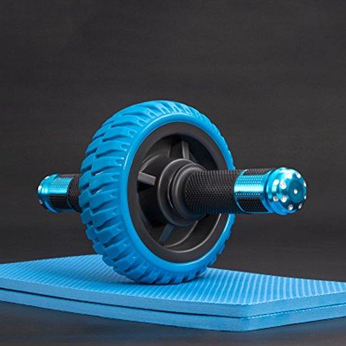 XLHLD Trainieren Abdomen Rad Bauchmuskeltraining Armtraining Taillentraining Schulterschulung Mann Trainer Bauch Fitnessgeräte Hause Dame Bauch Gürtel Roller Stum (Blau)