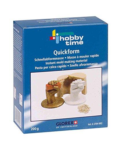 Glorex 6 2704 002 - Quickform Schnellabformmasse, 200 g, natürliche Stoffe, ungiftig und hautfreundlich, für Kinder geeignet