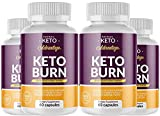 (4 Pack) Keto Advantage Keto Burn, Official, 4 Month Supply, 240 Capsules