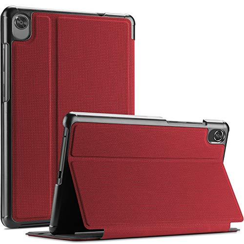 """ProCase Funda Protector Delgado Tipo Folio para Lenovo Tab M8 8' HD/Tab M8 FHD 8.0 Inch/Smart Tab M8,Tapa Carcasa Lenovo Tab M8 HD TB-8505F TB-8505X/Smart Tab M8 TB-8505FS/Tab M8 FHD TB-8705F 8""""-Rojo"""