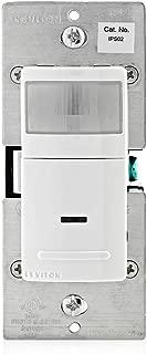 Leviton IPS02-1LW Decora Motion Sensor In-Wall Switch, Auto-On, 2.5A, Single Pole, White