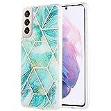 Lavender1 Funda de mármol para Samsung Galaxy S21 Plus, funda de silicona suave de poliuretano termoplástico, funda de protección de 360 grados, flexible y resistente a los arañazos