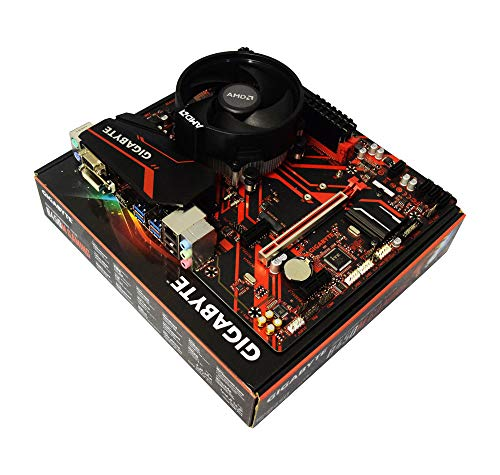 ADMI CPU placa base Paquete: AMD Ryzen 3 2200G con gráficos Radeon Vega 8, Gigabyte B450M placa base de juego, 2400Mhz DDR4 RAM 2600 32GB 3200MHz
