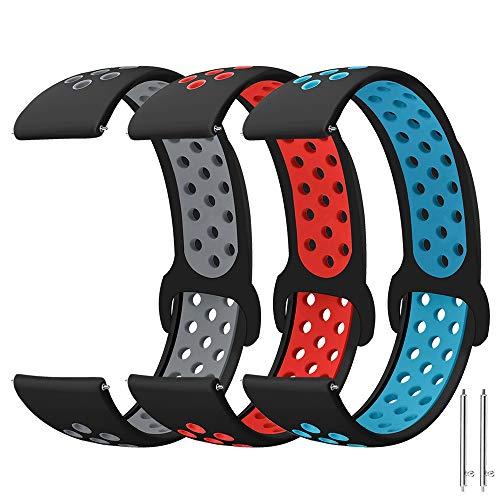 Correa de Reloj Gear Watch 3 45mm/Galaxy Watch 46mm/Gear S3 Classic/S3 Frontier/Huawei Watch GT/GT2 46mm Correa, 22mm Deportiva Pulsera de Repuesto Correa para Ticwatch Pro/Moto 360 2nd Gen 46mm
