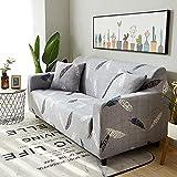 Impresión elástica Funda de sofá de Esquina para Sala de Estar Funda de sofá para sofá Puff Seat decoración del hogar ensamblar Funda de sofá A22 4 plazas