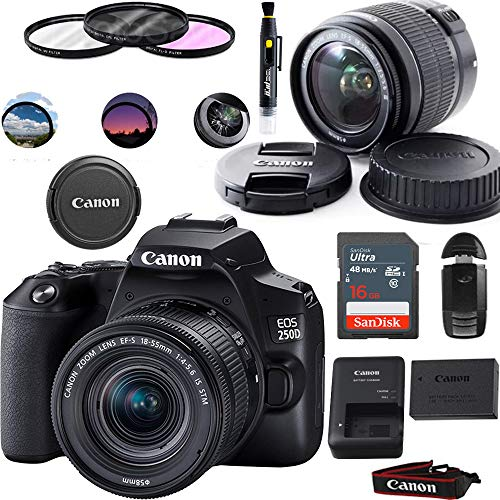 EOS 250D DSLR Camera with EF-S 18-55mm Lens -...