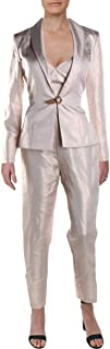 Womens Metallic 2PC Pant Suit