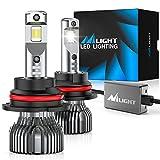 Nilight 9007/HB5 LED Headlight Bulbs,70w 14000lm 9007 Hi/Lo Beam LED Headlight Bulb 6500k 9007 LED Bulb Cool White IP67
