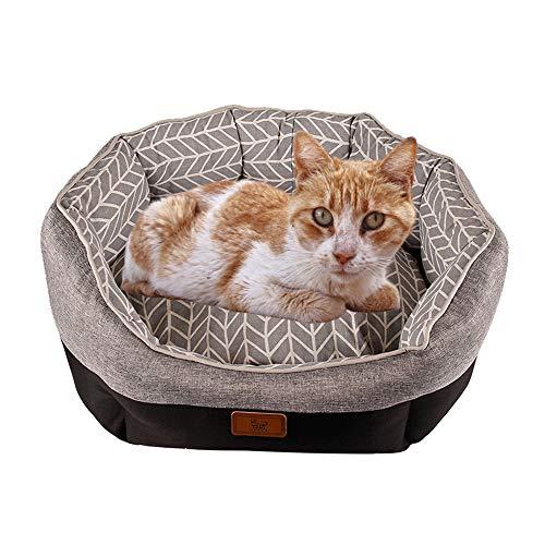 LKIHAH Huisdierbed, waterdicht en vochtdicht anti-stick haar vierseizoenen universeel bed warm canvas huisdier-nest