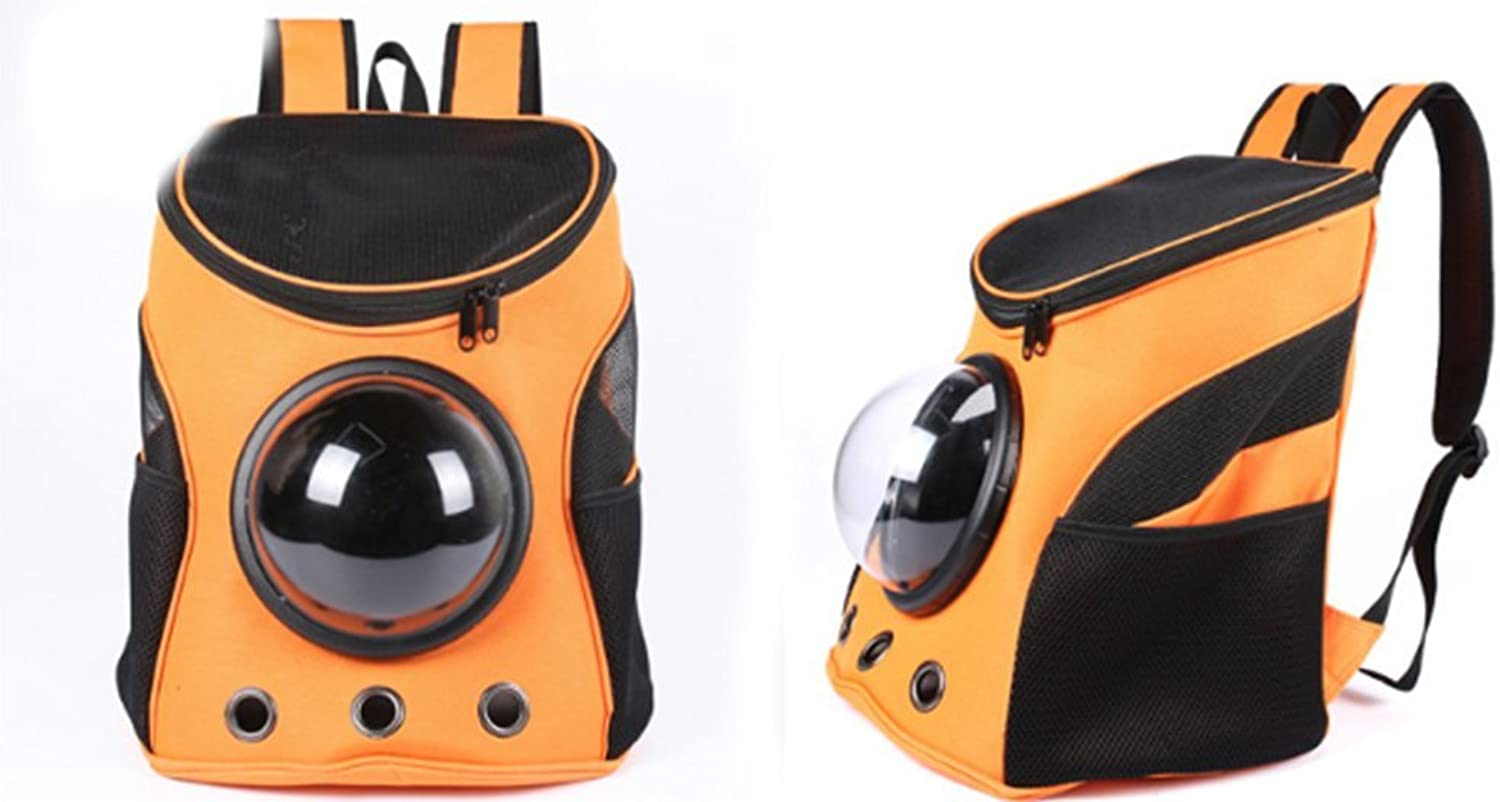 ABGLKMY Modern Wearable And Durable Shoulders Pet Bag Out Of The Portable Backpack Large Capacity Fashion Dog Space Capsule Travel,orange