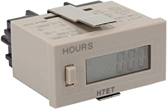 Liukouu DC 5-30V ET-BVM Digital Electrical Counter Totalizer with 6-Digit LCD Display(0.00 Second)