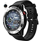 Smartwatch Con Oxímetro De Pulso Esfigmomanómetro Y Pulsómetro Reloj Inteligente Impermeable Para Hombre Mujer, Pulsera De Actividad Inteligente Podómetro Con Cronómetro Para Android Ios,Negro