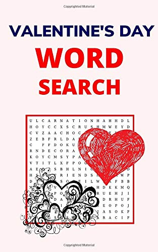Valentine's Day Word Search: Puzzle Book for Adults with 20 Games and Solutions
