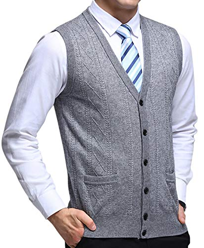 Large Sweater Vest for Men's With Pockets