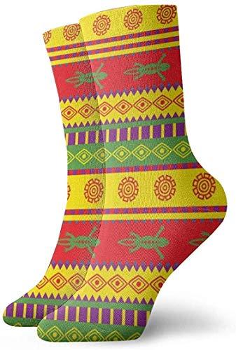 Eidechse mexikanisches Muster Erwachsene kurze Socken Baumwolle coole Socken für Herren Damen Yoga Wandern Radfahren Laufen Fußball Sport