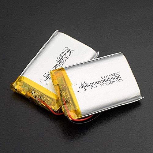 103450 Batería LIPO (3 7V 2000 MAH) Li-Ion LI-Poo Polímero de reemplazo de batería para Altavoces Bluetooth 1034502000 MAH-1034502000 MAH 1 Pieza.-2 Piezas