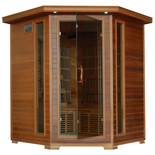 Radiant Saunas BSA1320 4-Person Cedar Corner Infrared Sauna