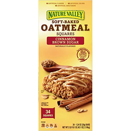 Nature Valley SoftBaked Oatmeal Squares Cinnamon Brown Sugar 34ct 124oz Each