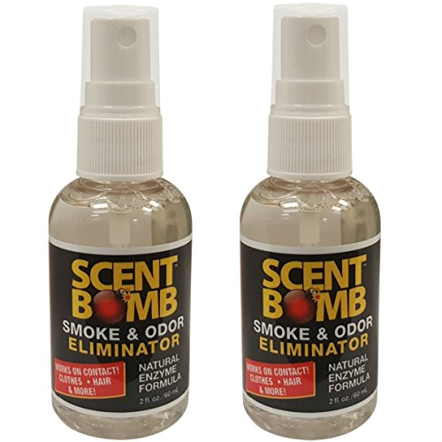 Scent Bomb Instant Smoke & Odor Eliminator for Home,Office & Car. Non-Aerosol Air Freshener 2oz (60mL), Natural Scent (Pack of 2)