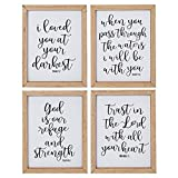 Christian Wall Decor with Bible Verses for Home (8 x 10 In, 4 Piece Set)