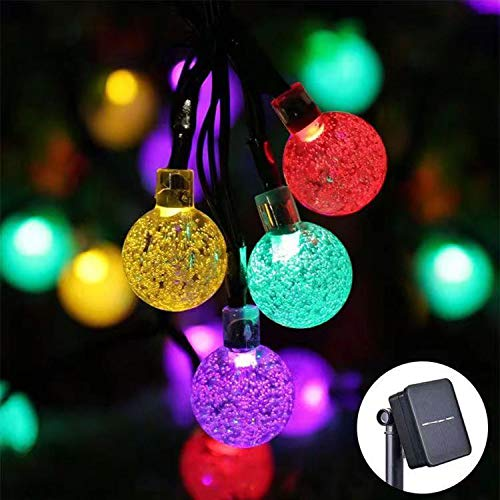 Solar String Lights, 9.5M LED Garden String, Outdoor Fairy Lights with IP65 Waterproof and 8 Modes, Solar Crystal Ball Lights for Wedding, Party, Christmas and Yard Decorative