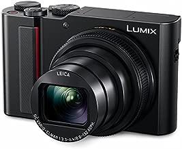 PANASONIC LUMIX ZS200 4K Digital Camera, DC-ZS200K, 20.1 Megapixel 1-Inch Sensor, 15X LEICA DC VARIO-ELMAR Lens, F3.3-6.4 Aperture, HYBRID O.I.S. Stabilization, 3-Inch LCD , DC-ZS200K (Black)