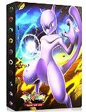 Album Compatible Con Pokemon, Album Compatible Con Pokemon Para Cartas, Álbum de Pokemon, Carpeta compatible con Cartas Pokemon, Album compatible con Cartas de Pokemon(Mewtwo)