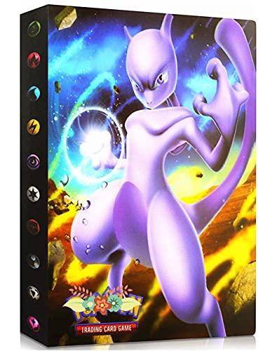 Porte Compatible Avec Carte Pokemon, Album Compatible Avec Pokemon, Classeur Compatible Avec Pokemon, Portfolio Compatible Avec Pokemon, Cahier Compatible Avec Parte Pokemon (Mewtwo)