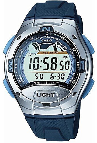 CASIO Reloj de pulsera digital de caucho gris acero W-753-2AVES