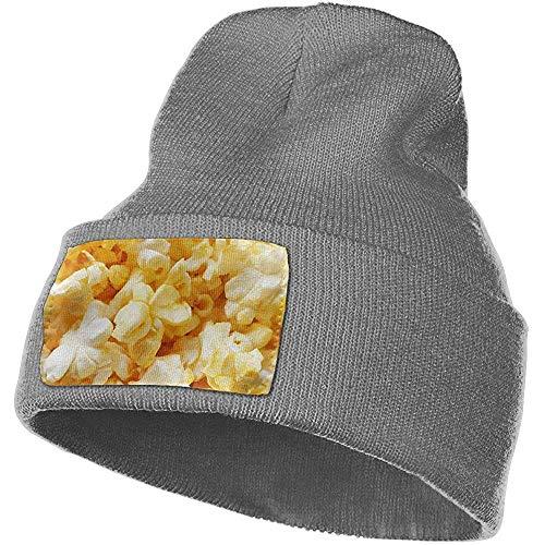 Quintion Robeson Berretto da Donna e da Uomo in Crema di Mais, Popcorn, Cibo salato, Inverno, Caldo, Cappelli, Elastico, Cranio, Cappello da Sci