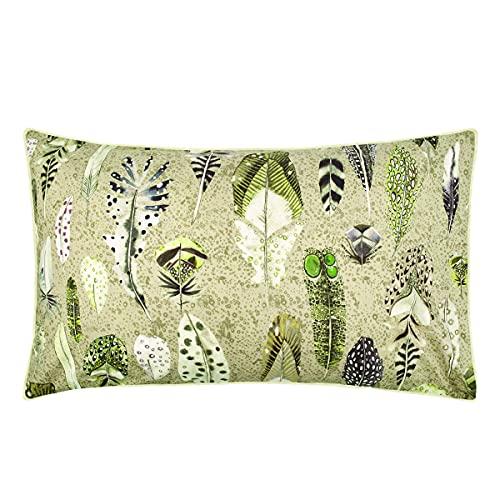 Quill Natural - Funda de Almohada Estampada de percal de algodón, 50 x 75 cm, Color Natural