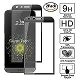 Guran [2 Unidades] Protector de Pantalla Vidrio Cristal Templado para LG G5 Smartphone Glass Vidrio Templado Film (9H, 2.5D Edge, 0.3mm) - Negro