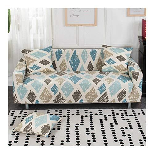 WAZMM Funda de sofá Impresa Funda de sofá Antideslizante de Alta Elasticidad, Funda Protectora de Muebles extraíble y Lavable, 235-300cm