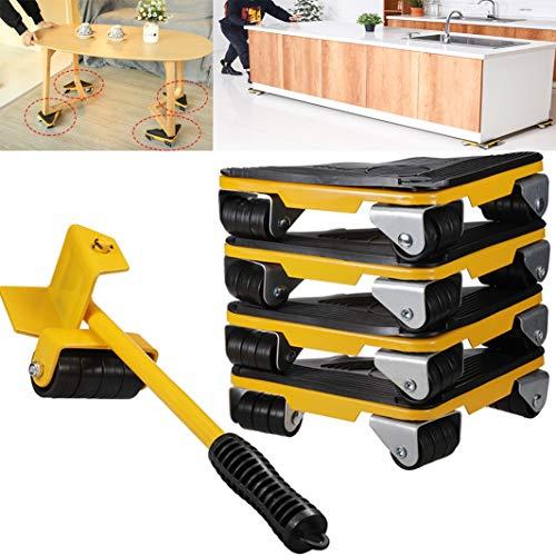 Heavy hendel en mobiele gereedschappen voor meubels en apparaten met 4 sliders, eenvoudig en veilig te verplaatsen, eenvoudig en veilig te verplaatsen, maximale gewichtsbelasting 330 lbs.