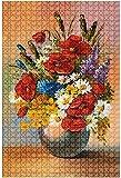 Rompecabezas de madera 500 piezas Pintura al óleo vintage de flores en jarrón Rompecabezas de mesa divertidos y desafiantes Juego Juguetes Regalo Decoración para el hogar-Puzzle10