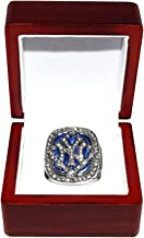 NEW YORK YANKEES (Derek Jeter) 2009 WORLD SERIES CHAMPIONS Rare Collectible High-Quality Replica Silver Baseball Championship Ring with Cherrywood Display Box