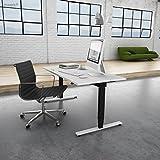 Inwerk MASTERLIFT 2 | Steh-Sitz Schreibtisch (160 x 80 x 74 cm, Weiß/ Schwarz) - 3