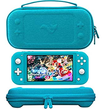 ButterFox Slim Carrying Case for Nintendo Switch Lite with 19 Game and 2 Micro SD Card Holders Storage for Switch Lite Accessories  Premium Turquoise
