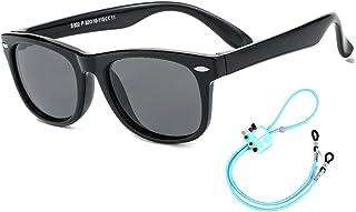 Rocf Rossini Gafas de Sol Polarizados para Edades de 2-8 Niños y Niñas Gafas de Sol Aviador Tonos de Protección UV