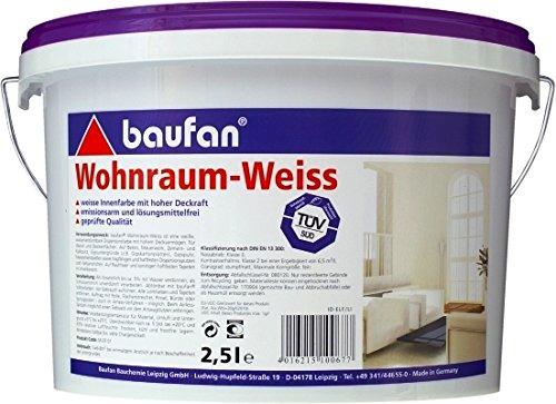 baufan Wohnraumweiss 2,5l