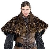 amscan 842983-55 Costume avec cape en fourrure et épaules Marron