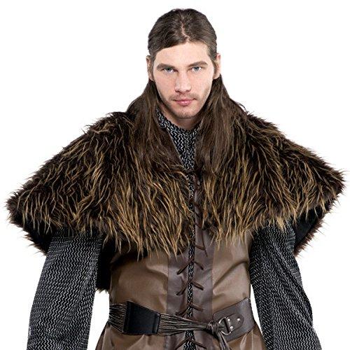 Amscan 842983-55 Furry Shoulder Cape Kostüm, 1 Stück, Braun, Einheitsgröße